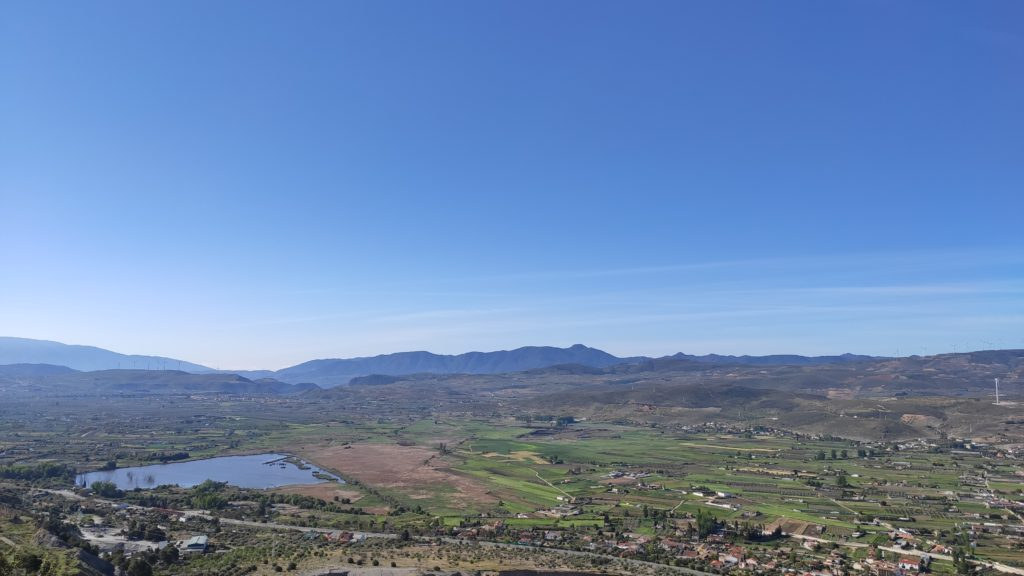 vistas panoramicas humedal de padul laguna